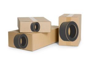 Promocyjna wysyłka opon w kartonach
